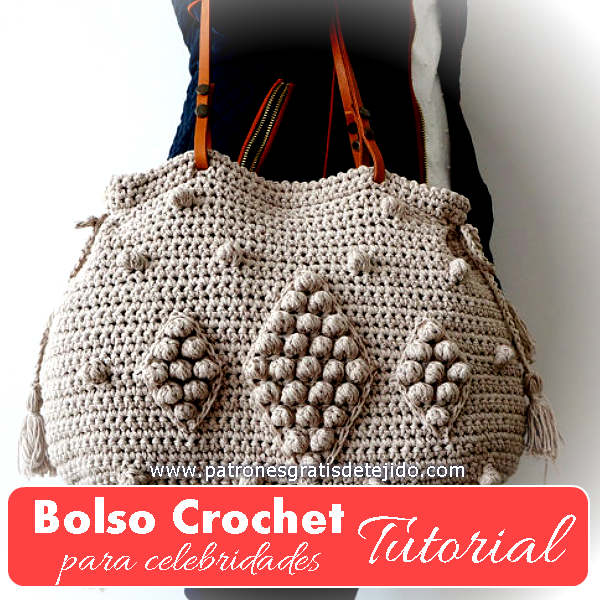 tutorial en video de bolso crochet fácil