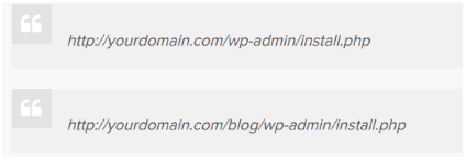 WordPress Installation URLs