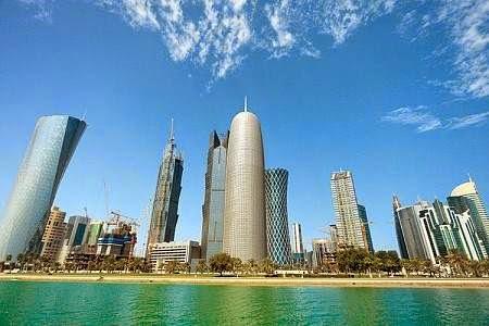 gambar icon gedung negara termakmur di dunia yaitu doha qatar