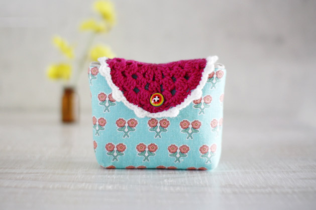 Tutorial Instructions Pattern Cosmetic Pouch With Illustration Photo Personalized Gift.