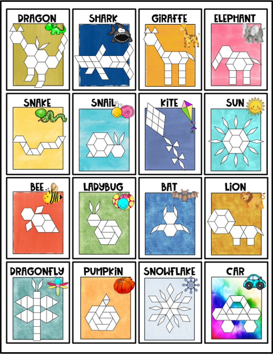 Pattern Block Mats Simple Inspiration Ideas
