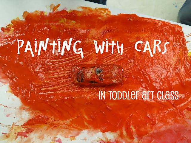 http://librarymakers.blogspot.com/2013/03/toddler-art-class-painting-with-cars.html