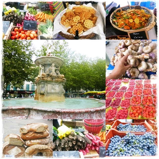 wonderful food market in Carcassonne, France