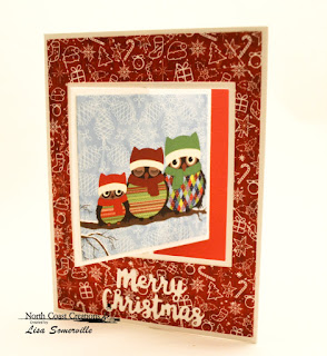 North Coast Creations Paper Collection: Very Merry, ODBD Custom Dies; Lever Card, Lever Card Layers, Holiday Words