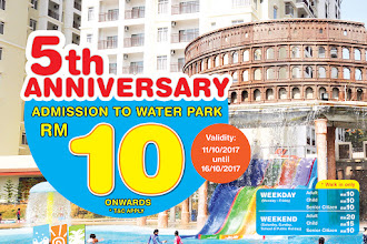 Bayou Lagoon water park admission RM10 only!
