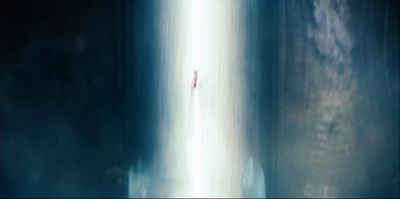Superman flies throuigh the Worldengine's beam. Not quite as cool a name as Electrothanasia Ray.