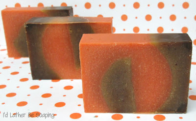 I'd Lather Be Soaping: Pumpkin Gingerbread Vertical Swirl