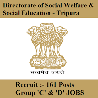 Directorate of Social Welfare & Social Education Tripura, Tripura Welfare, Tripura, Group D, 10th, LDC, freejobalert, Sarkari Naukri, Latest Jobs, tripura welfare logo