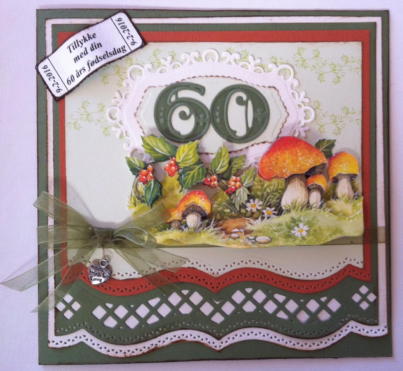 60 års kort Helles kort: 60 års fødselsdagskort 60 års kort