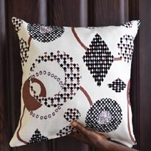 Cream Geometric Shapes Throw Pillow