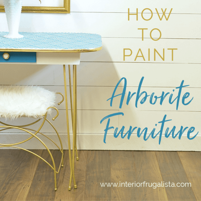 How To Paint Arborite Retro Dining Tables