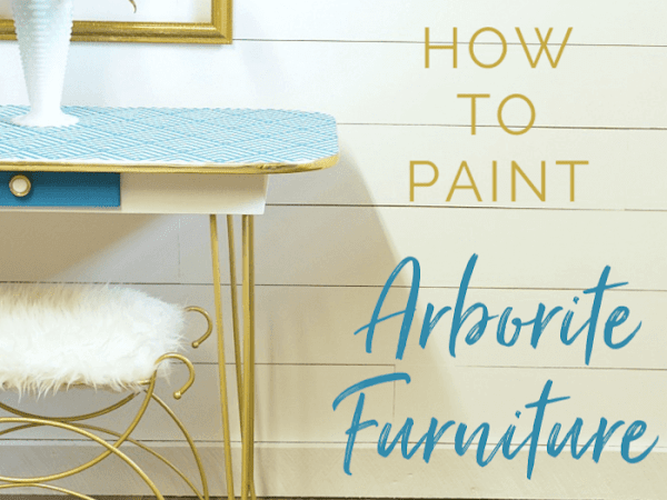 The Scoop On How To Paint Arborite Retro Dining Tables
