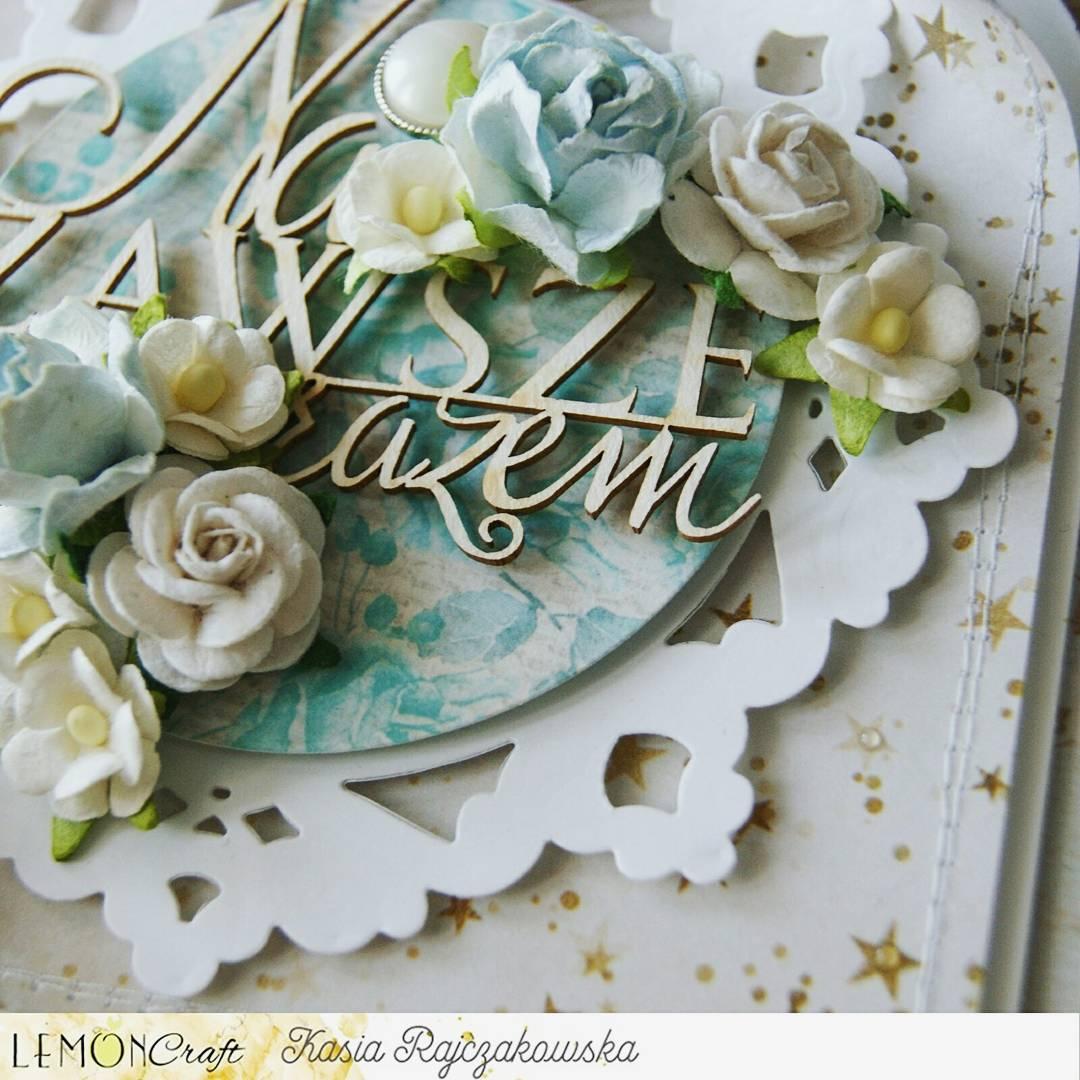 Wyjątkowy komplet z okazji ślubu w błękitach, bieli, brązach.