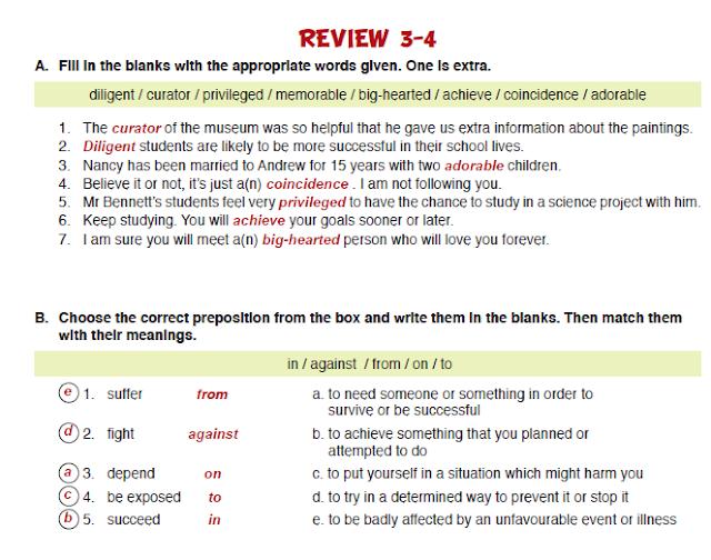 11. Sınıf MEB Yayınları İngilizce Çalışma Kitabı Silver Lining 35. Sayfa Cevapları Review 3-4