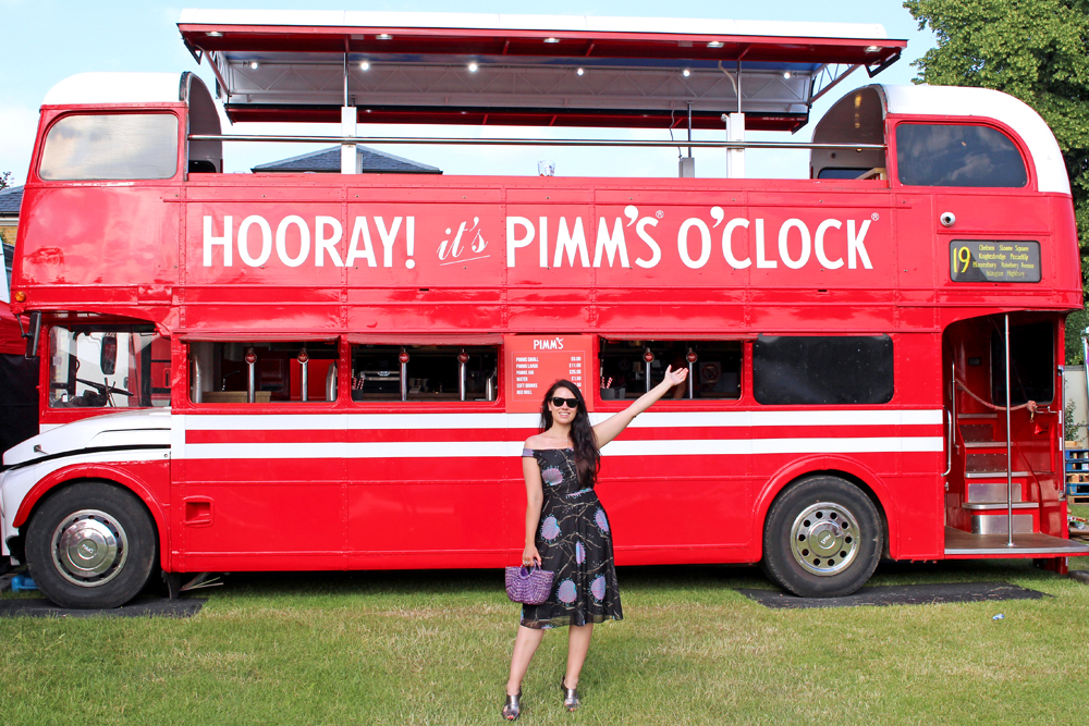The Pimms Bus at Polo in the Park 2018 - London lifestyle blog