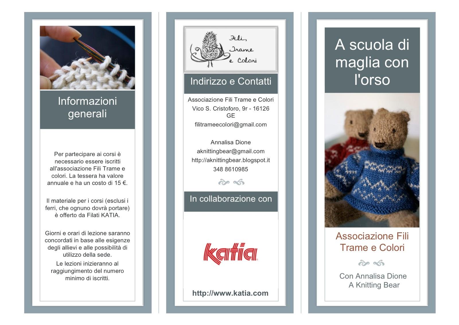A Knitting Bear Corsi Di Maglia A Genova