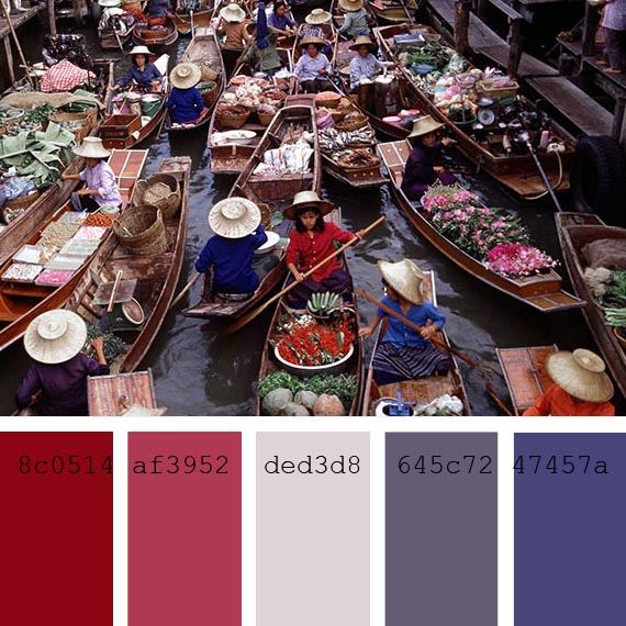 pantone color of the day palette, orient blue
