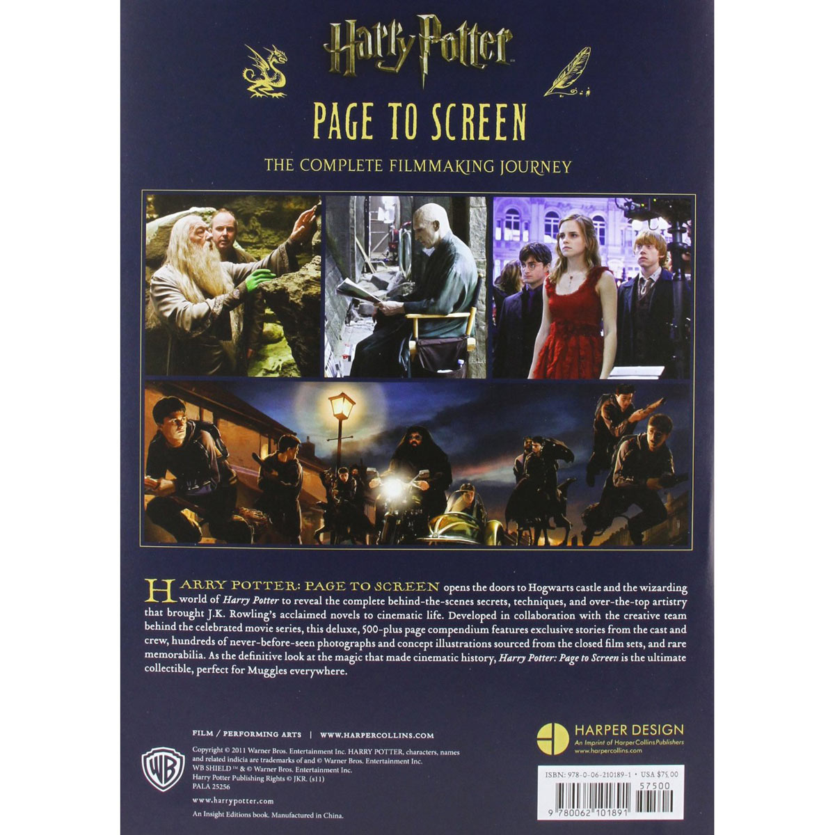 Comprar Libros De Harry Potter Libro Harry Potter Page To Screen Merchandising Harry Potter