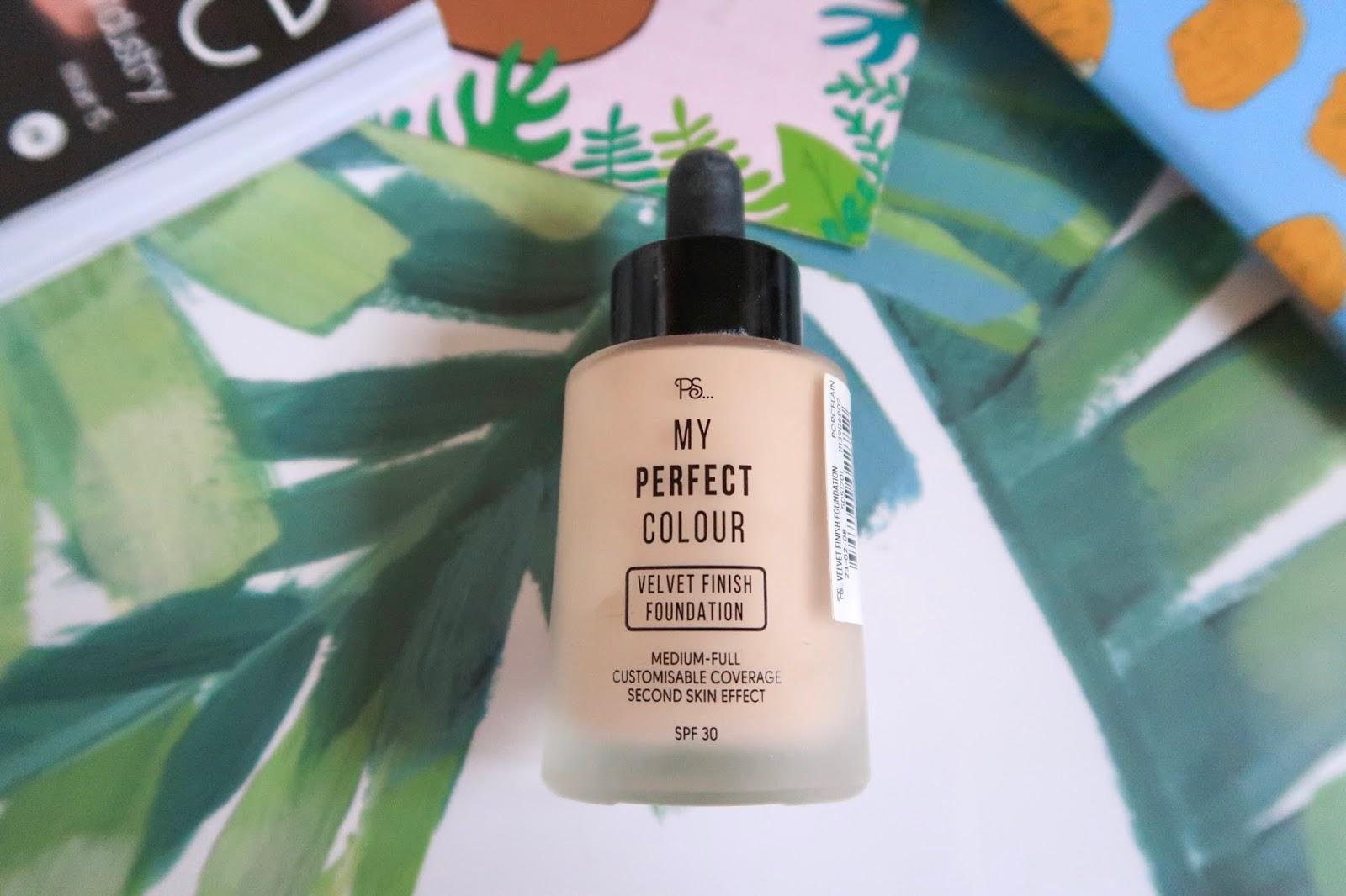 primark perfect colour velvet finish foundation laid flat