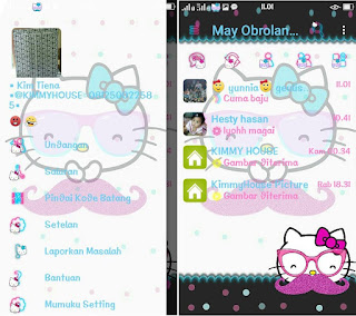 BBM White Hello Kitty v3.2.0.6 Apk