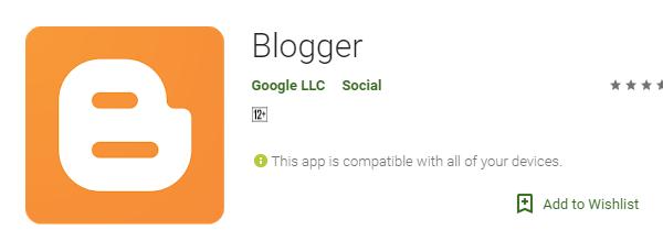 Aplikasi Blogger Android Tebaik
