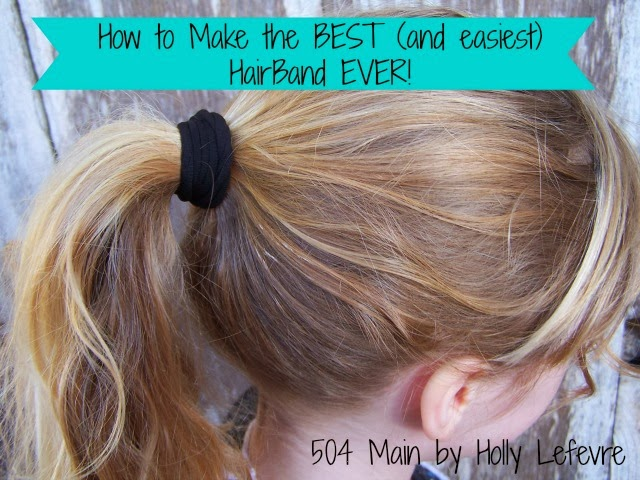 How to Make the Best and Easiest Hairband on the Planet by 504 Main