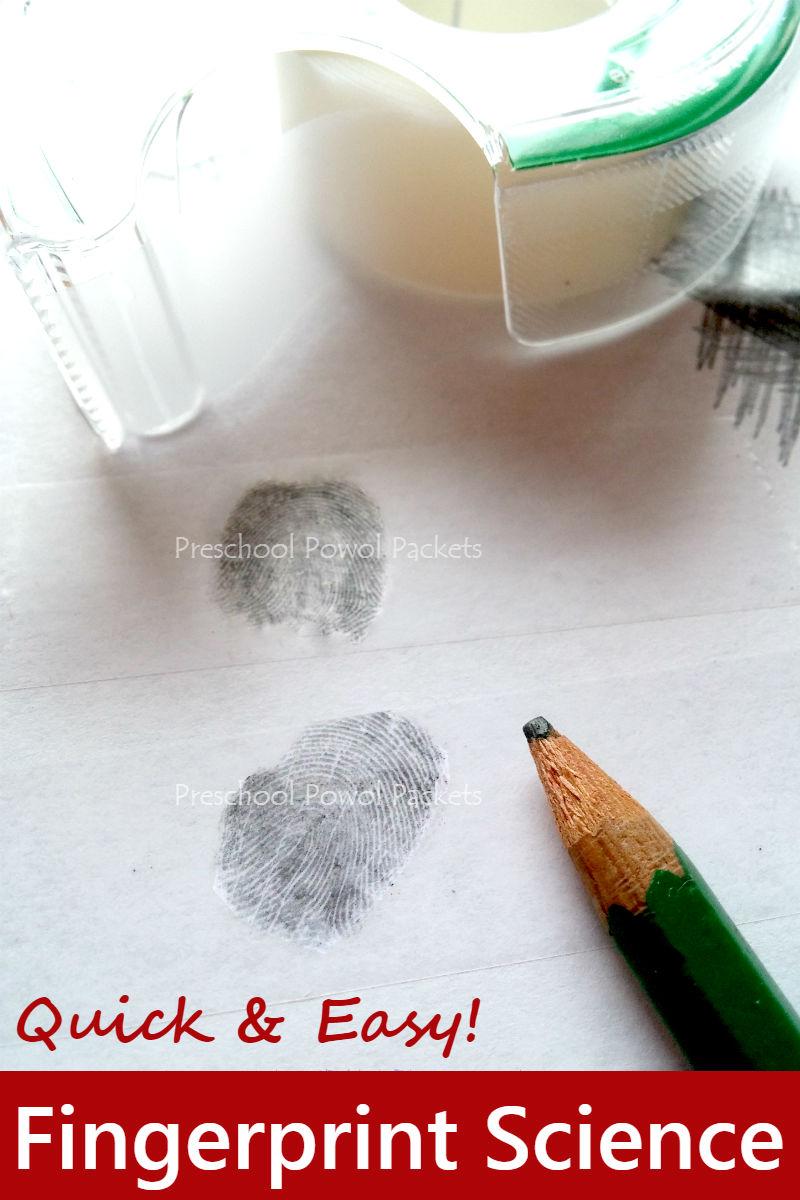 Christmas Supplies STEM Investigation: Tape Fingerprints | Preschool ...