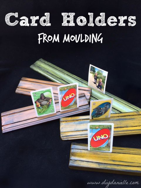 Card Holders From Moulding Diy Danielle
