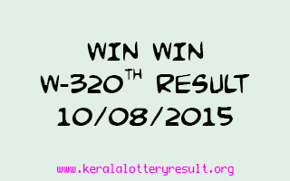 WIN WIN W 320 Lottery Result 10-8-2015