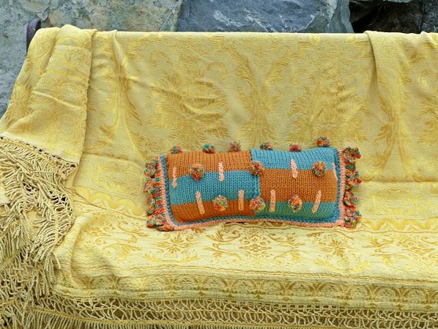 Modern Spice pillow designed & handmade by Minaz Jantz