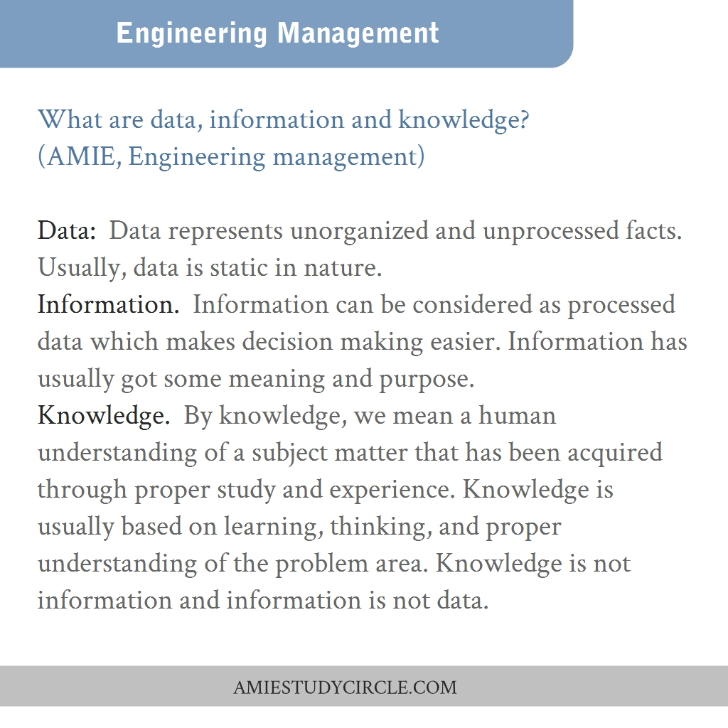 Study material for amie pure
