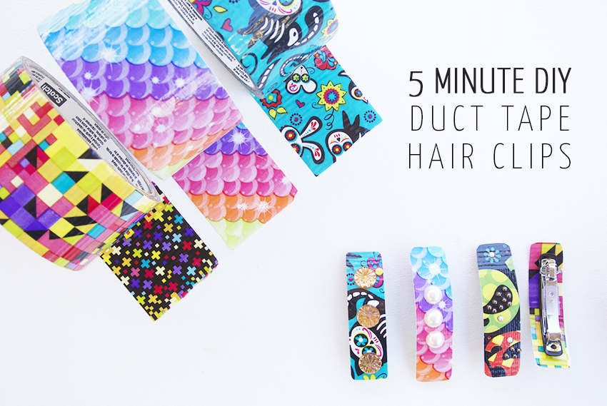 5 Minute Diy Duct Tape Hair Clips
