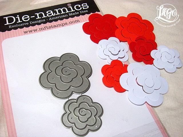 rolled paper roses template - embossed mini rolled roses tutorial