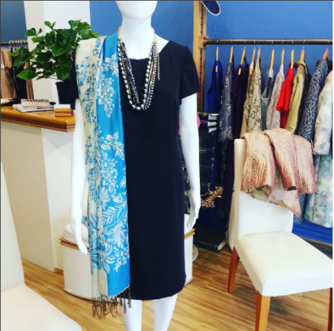 Dress up a black dress. Come here for a liitle black dress, made up to measure, in a washable crepe fabric.