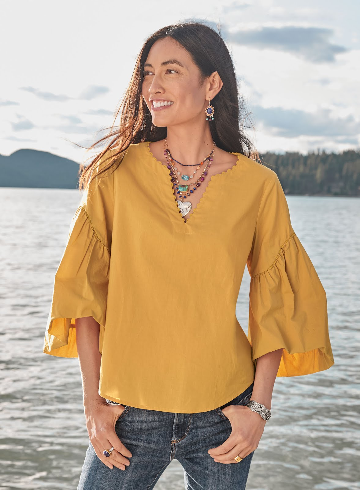 Sundance Catalog Harbor Romance Top
