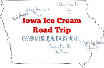 Iowa Ice Cream Road Trip to Viking Drive Inn in Ventura and Stan's Drive In in Osage