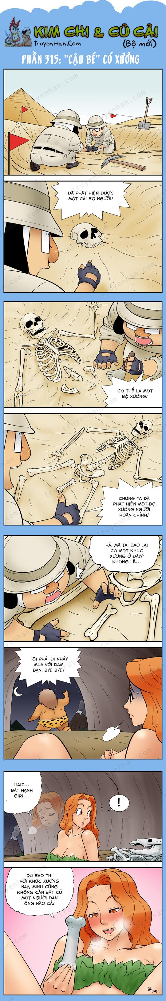 """Kim Chi Và Củ Cải phần 315: """"Cậu bé"""" có xương"""