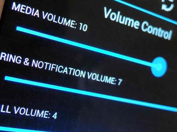 android volume Setting