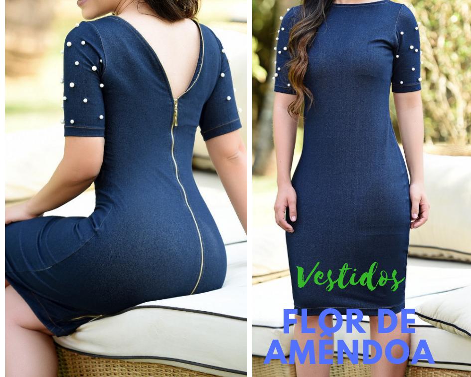 d879969ee3 Moda Evangélica- FLOR DE AMÊNDOAS. 11.2.19.  https   www.lojaflordeamendoa.com.br vestidos vestido-