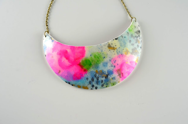 collar mixed media arcilla polimérica