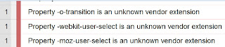 webkit-user-select is an unknown vendor extension