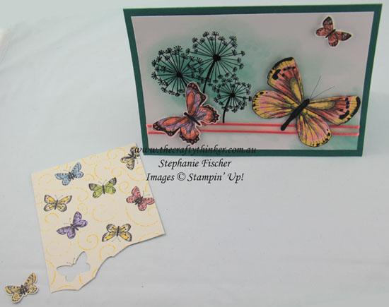 #thecraftythinker #saleabration2019 #cardmaking #stampinup #botanicalbutterfly #embossresist , Dandelion Wishes, Botanical Butterflies DSP, Emboss Resist, Stampin' Up Australia Demonstrator, Stephanie Fischer, Sydney NSW
