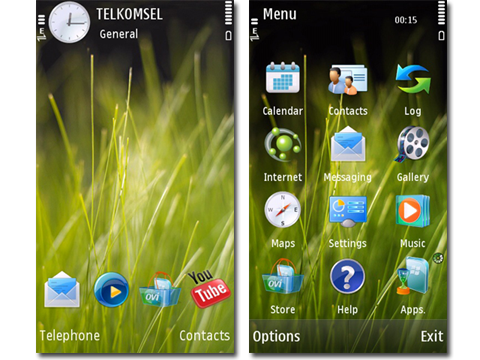 Mobile Phones: Vista Grass theme for s60v5