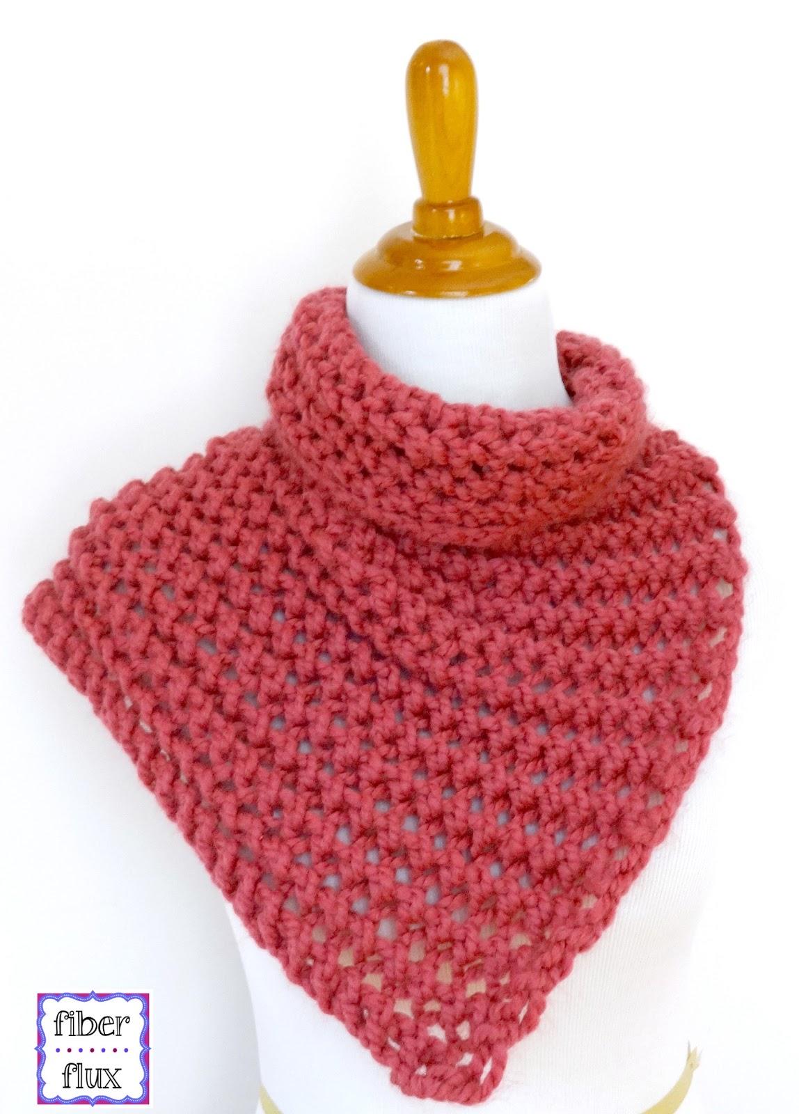 Fiber flux free knitting patterns free knitting patterns tweedy eyelet scarf raspberry sorbet button cowl dt1010fo
