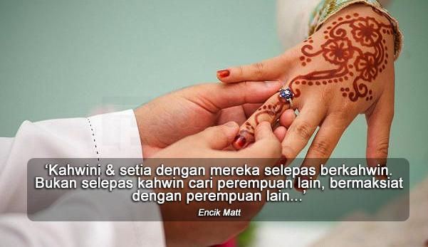'Isteri Mahu Suami Setia Selepas Kahwin, Bukannya Cari Perempuan Lain'