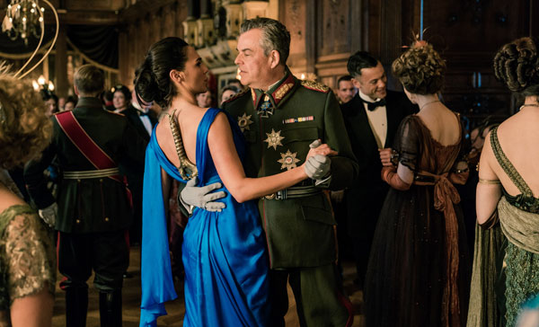 Diana (Gal Gadot) and General Erich Ludendorff (Danny Huston) in WONDER WOMAN (2017)