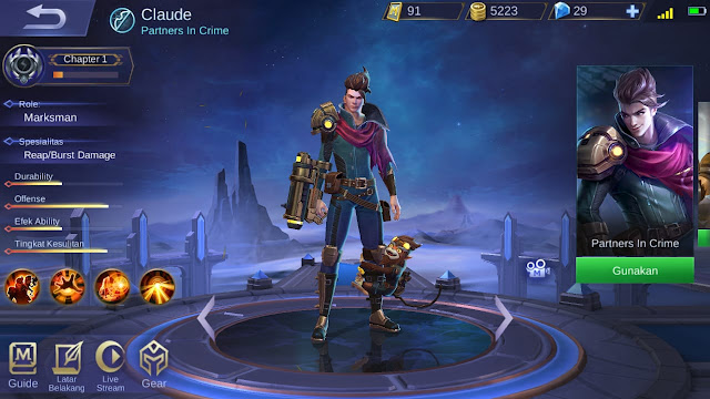 Marksman Terkuat di Mobile Legends Season 11 Claude