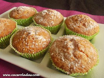 Magdalenas de zanahoria (carrot cupcakes)