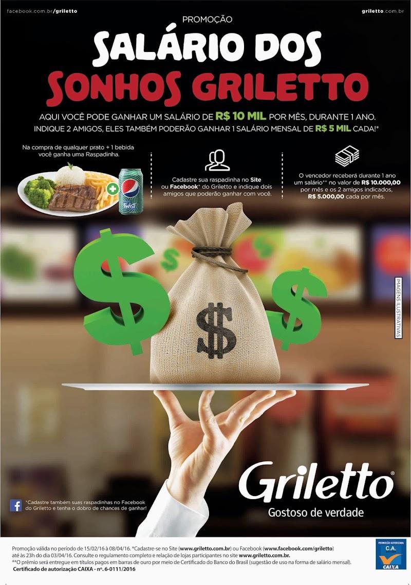 Promoção do Griletto dará salário anual de R$ 120 mil