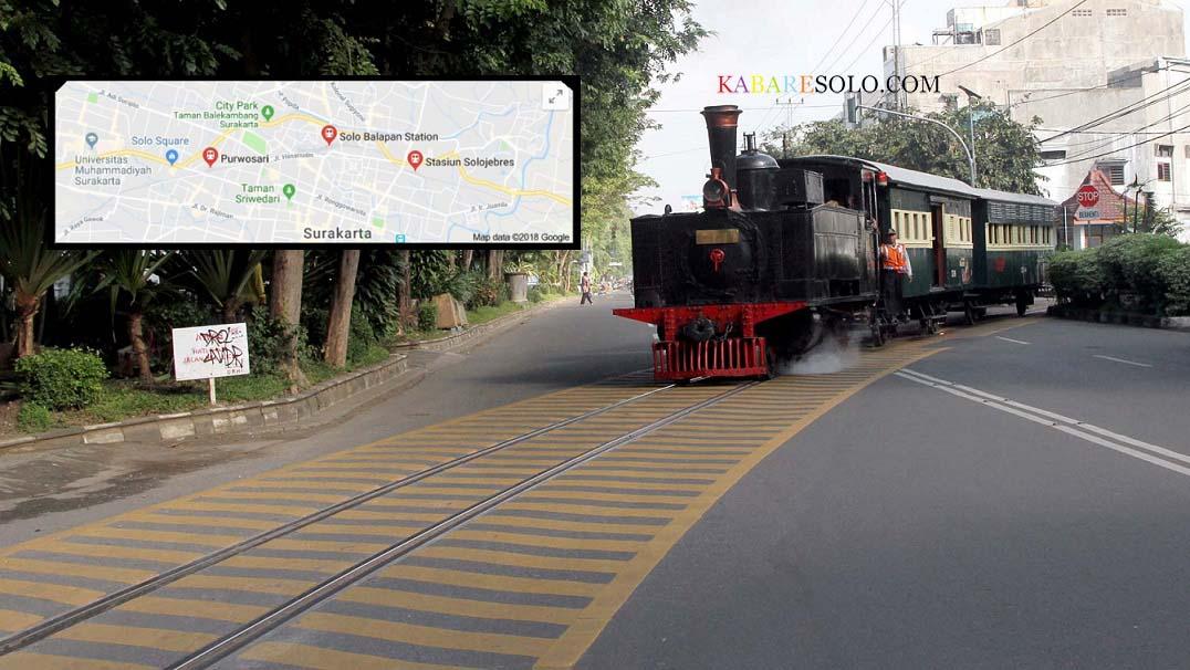 Siapkan Uang Segini Jika Ingin Naik Kereta Api Uap Jaladara Yang Membelah Jalan Raya Kota Solo Kabare Solo